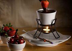 Chocolate Honey Almond Fondue | fondue | Pinterest