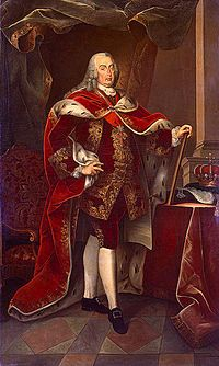 José I (1714 - 1777). King of Portugal from 1750 to his death in 1777. He married Mariana Victoria of Spain and had four daughters.