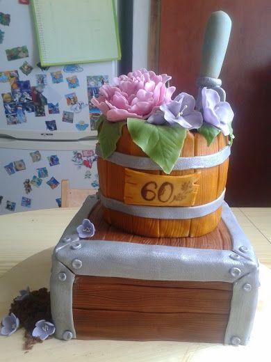 Flower pot cake - inspired by Pinterest :)