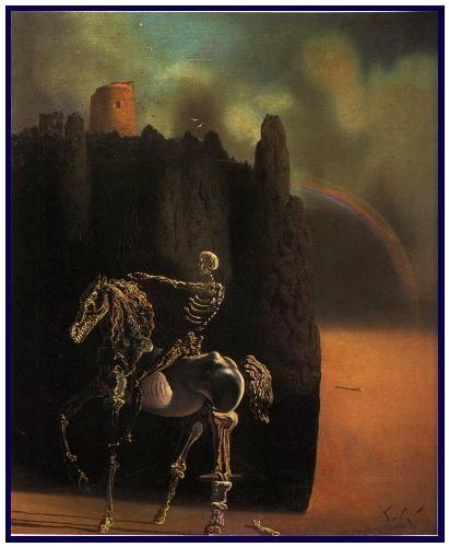 SALVADOR DALI  -  Le cavalier de la mort - peinture  1936