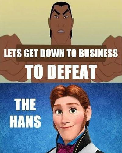 When Disney's Frozen and Mulan collide - LOL!
