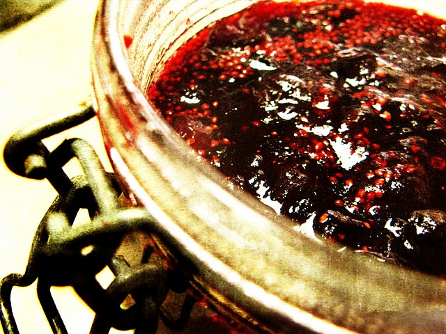 port, cherry and cranberry sauce by my friend Wendy... seriously ...
