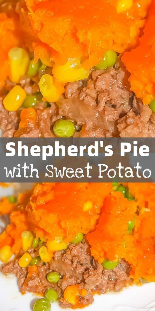 Shepherd S Pie With Sweet Potato Kiss Gluten Goodbye In 2020 Shepherds Pie Mashed Sweet Potatoes Beef Recipes