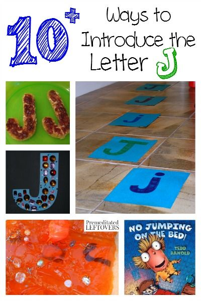 There are so many fun ways to teach letters. Here are some fun crafts, recipes, printables, activities and ways to introduce the letter J to your child.