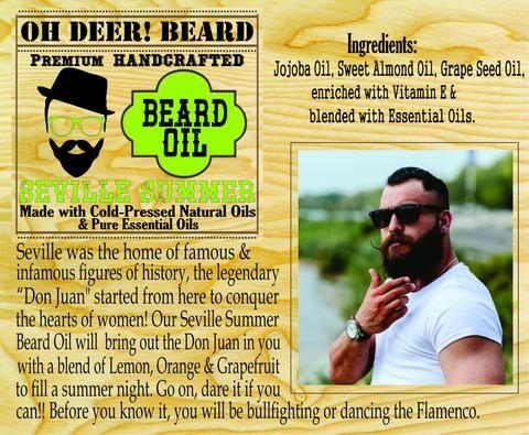 Beard Oil - Seville Summer 30ml/1 fl.oz