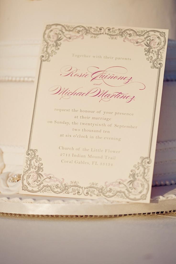 Best 132 Wedding invitations ideas on Pinterest | Bridal invitations ...