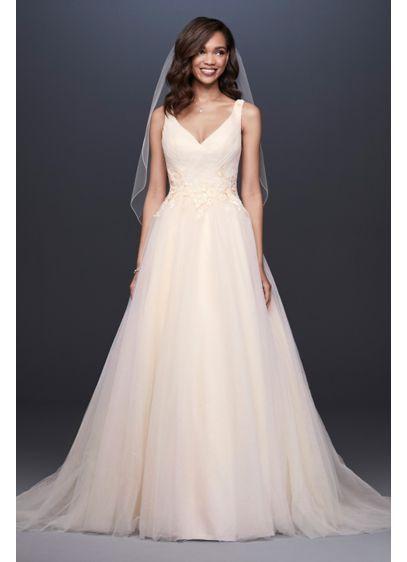 b865575f1c9 Appliqued Glitter Tulle A-Line Wedding Dress Style WG3930