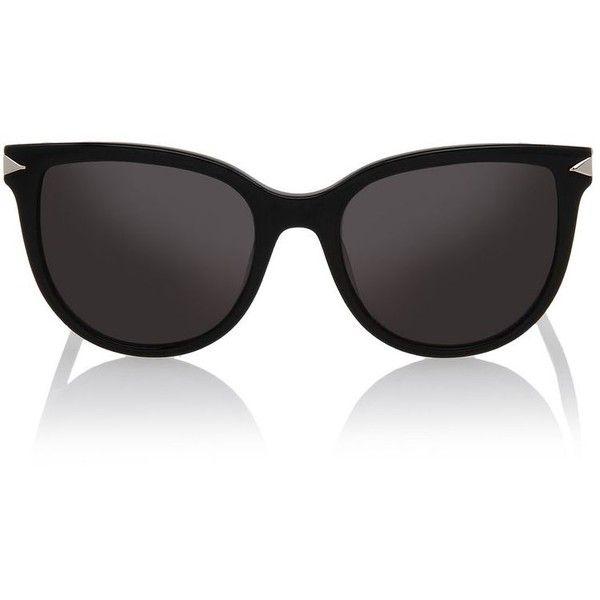 Karl Lagerfeld Arrow (8.600 RUB) ❤ liked on Polyvore featuring accessories, eyewear, sunglasses, black, karl lagerfeld eyewear, karl lagerfeld glasses, karl lagerfeld, retro vintage sunglasses and lens glasses