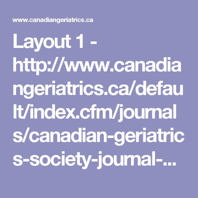 Layout 1 - http://www.canadiangeriatrics.ca/default/index.cfm/journals/canadian-geriatrics-society-journal-of-cme/cme-journal-vol-4-issue-1-2014/polypharmacy-optimizing-medication-use-in-elderly-patients/