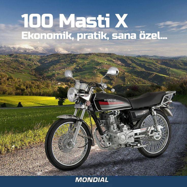 Modifiye gerektirmeyen eksiksiz tasarımı ve kullanım kolaylığıyla sadece gideceğin yere karar vermen yeter; 100 Masti X www.mondialmotor.com.tr