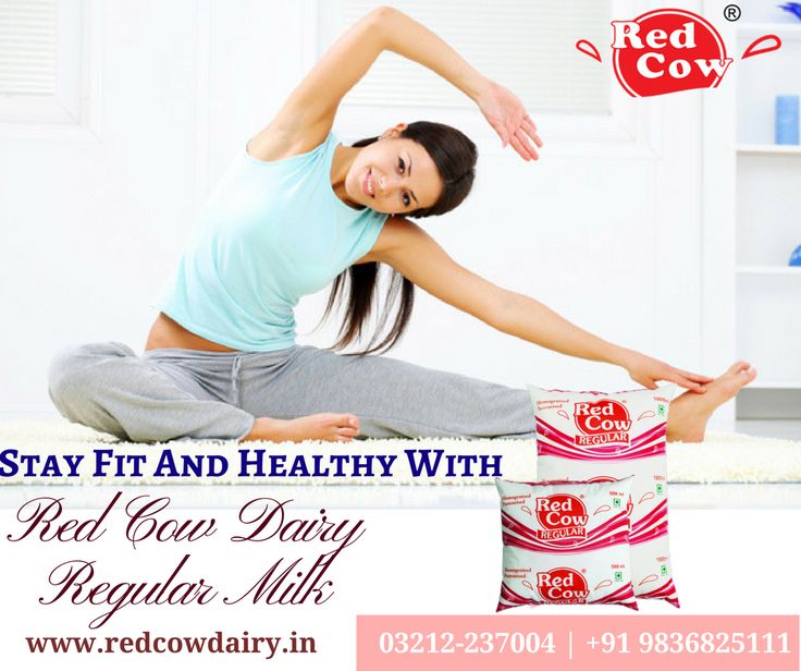 Stay fit & healthy with daily exercise and Red Cow Dairy Regular Milk For any query: +91 9836825111