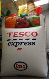 #ThrowbackThursday a giant inflatable Tesco shopping bag from 2013