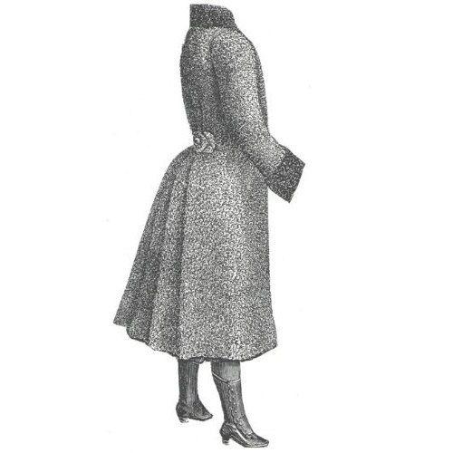 AG1783   1889 Astrakhan Coat for Girl 12-14 by patternsoftime