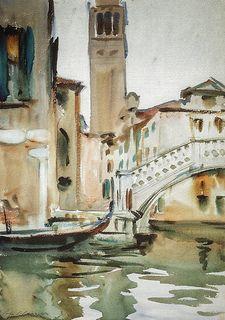 John Singer Sargent - A Bridge and Campanile Venice at National Gallery of Art Washington DC | par mbell1975