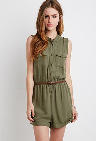 Belted Utility Romper | Forever 21 | #thelatest
