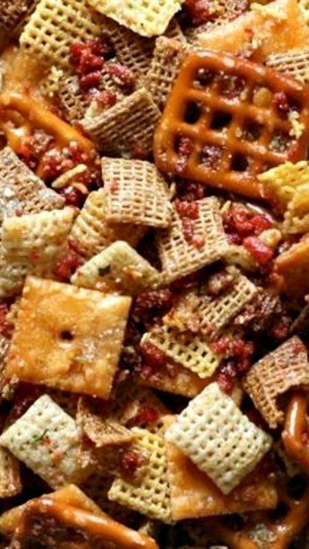 Slow-Cooker Cheesy Bacon Chex® Mix Recipe