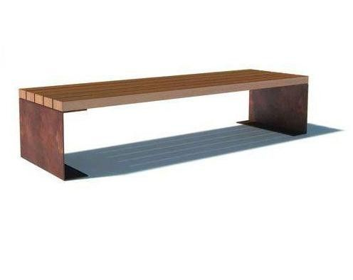 Rapadouro Corten Steel Bench Garden Bench Cushions Street Furniture Corten Steel