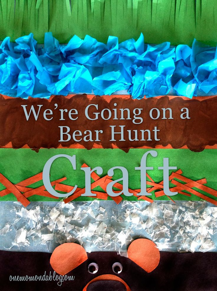 """A craft to go along with the beloved children's book, """";re Going on a Bear Hunt""""!"""
