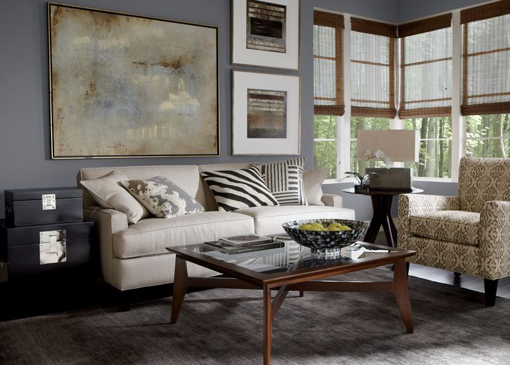 A Modern Meets Contemporary Approach. #EthanAllen #EthanAllenBellevue  #Modern #Contemporary. Ethan AllenLiving Room ...
