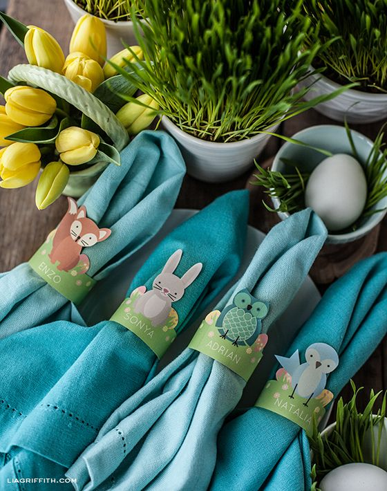 Woodland Friends Napkin Rings
