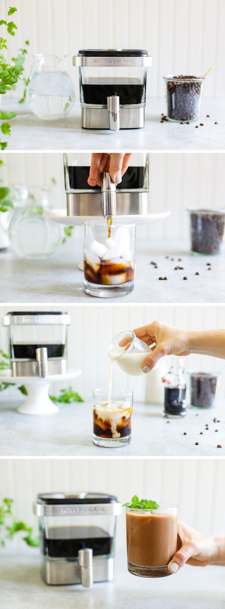 The KitchenAid® Cold Brew Coffee Maker makes more than just a great cup of coffee, like this Vanilla-Maple Cold Brew. @LiveSimplyMom shares her 5 Easy Cold Brew Recipes on our blog: http://kitchen.ai/A7eYlo