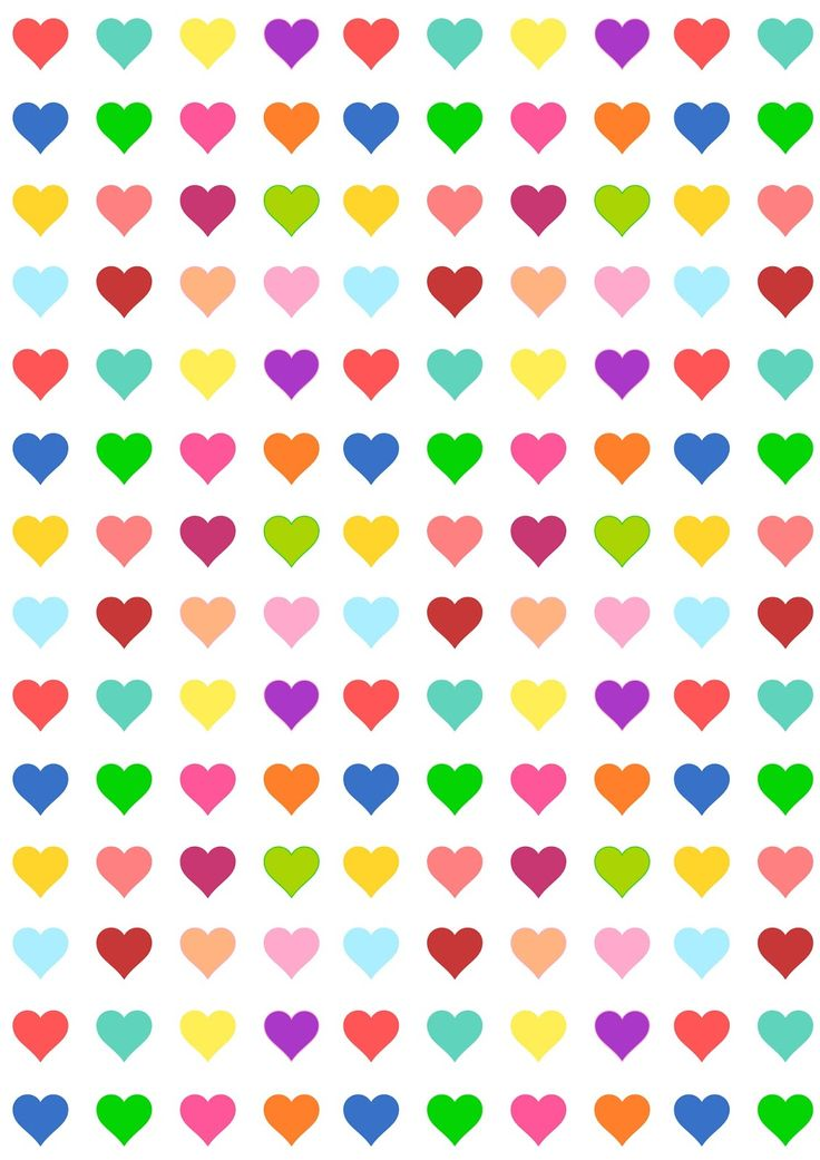 FREE printable heart pattern paper | #candycolors