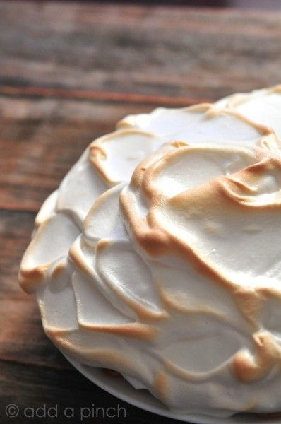 An easy Meringue Recipe filled with tips for that perfect, fluffy, meringue to top all sorts of pie recipes, puddings, and other treats. Get this perfect meringue recipe you are sure to love.