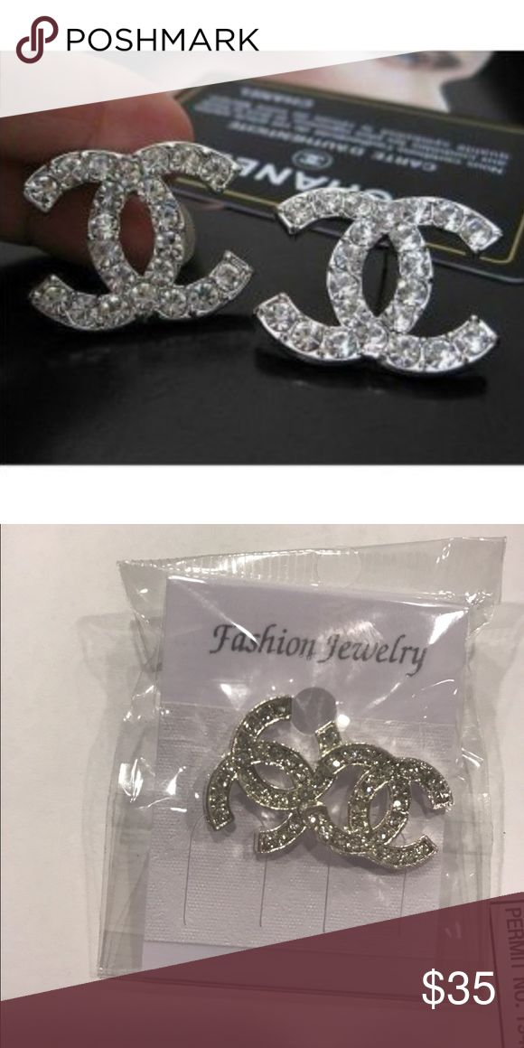Earrings Super cute!! These are dupes for the Chanel earrings! Price reflects that 💕 CHANEL Jewelry Earrings