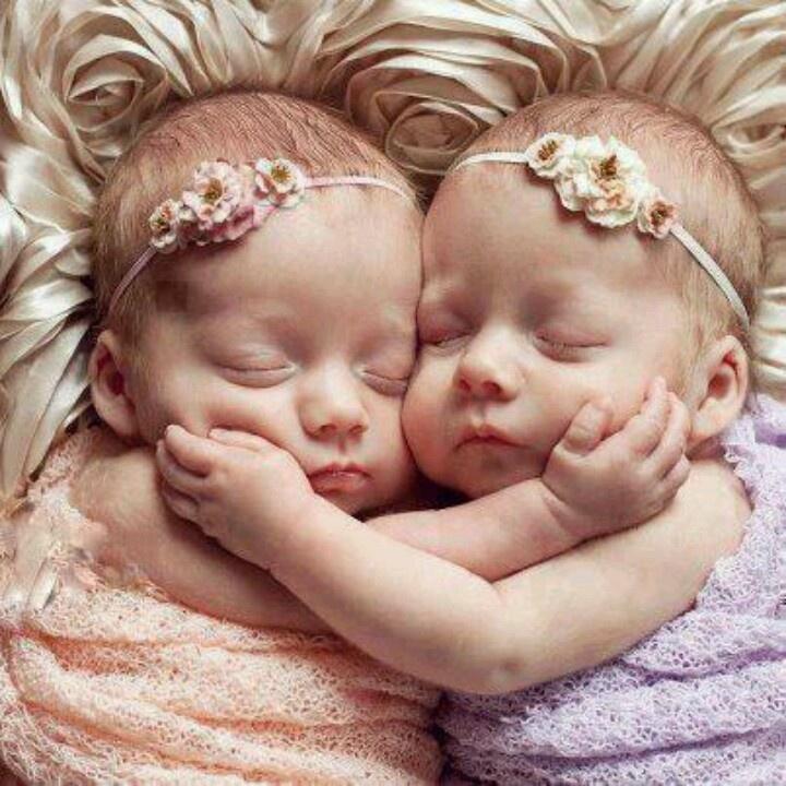 Newborn twin portrait