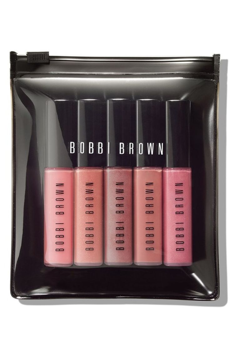 Obsessing over this mini lip gloss set by Bobbi Brown. Just swipe the gloss across bare lips or layer over lip color for a polished finish.