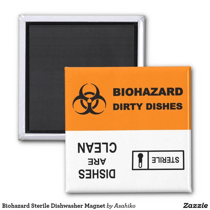 Biohazard Sterile Dishwasher Magnet