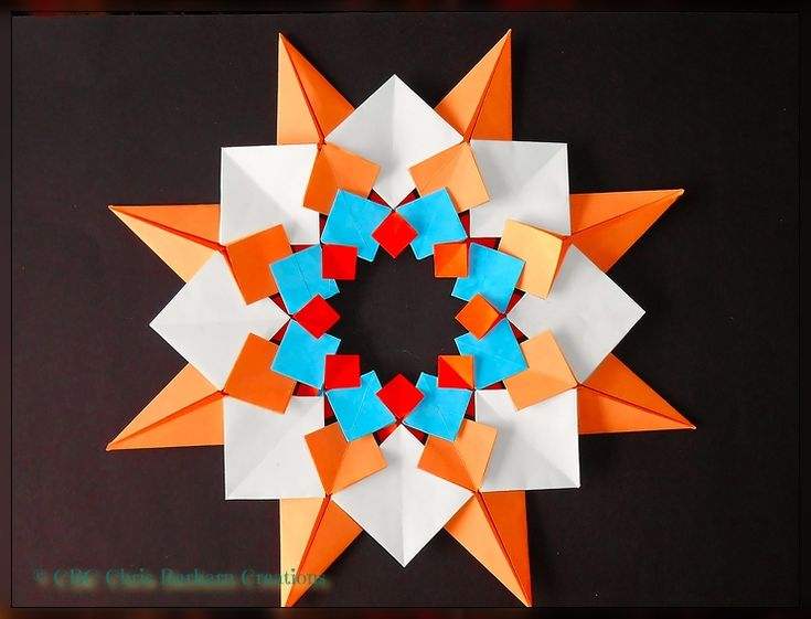 Tomoko Fuse - Quilts & Patchwork Modular Strar without glue foldet by me. Folder and Photograph Chris Barharn Creations