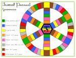Remise en page totale du jeu.  A partir d'une idée de Françoise Picot trouvée dans L'école aujourd'hui (visible ici), voici un jeu de Trivial Pursuit de grammaire-conjugaison pour le CE1.Mes élèves l'adorent ! Le jeu se joue avec un pion par joueur (6 joueurs maximum) et un dé.Le but est de collecter une carte […]