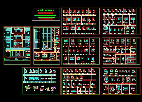 Block doors and windows Collection Free download AutoCAD Blocks --