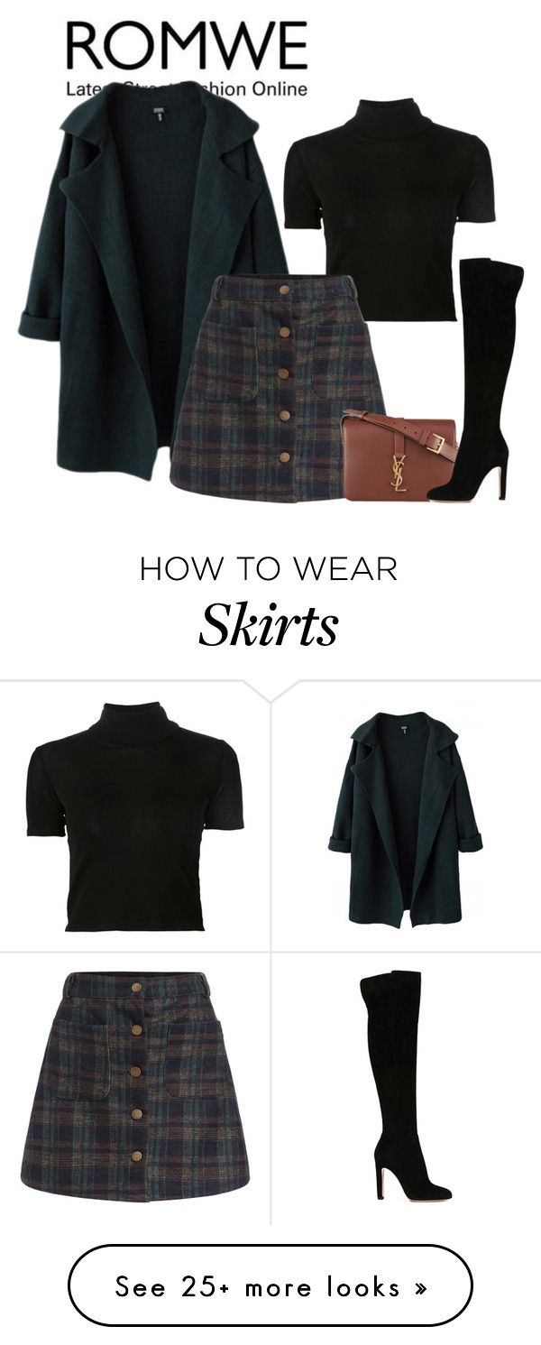 """Untitled #2401"" by fashion-nova on Polyvore featuring Rosetta Getty, Yves Saint Laurent and Gianvito Rossi"