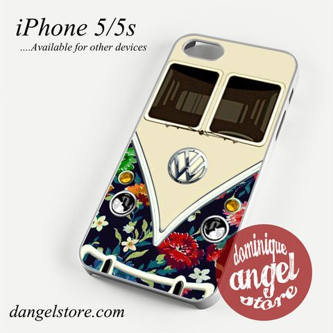 old floral vw retro bus Phone case for iPhone 4/4s/5/5c/5s/6/6 plus