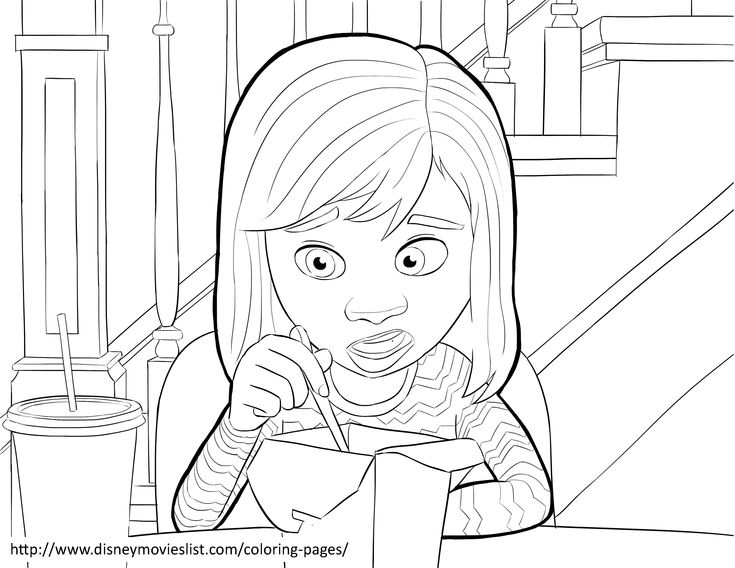 Disney's Inside OutRiley Anderson Coloring Page