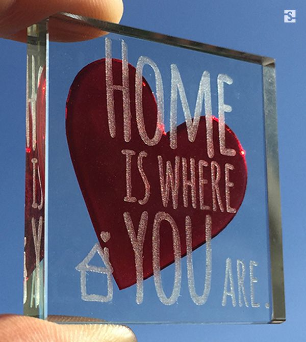 """""""Home is where you are"""" Red Heart Token by Spaceform"""