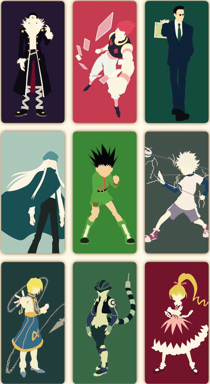 Chrollo, Hisoka, Leorio, Kite, Gon, Killua, Kurapika, Meruem, and Bisky     ~Hunter X Hunter