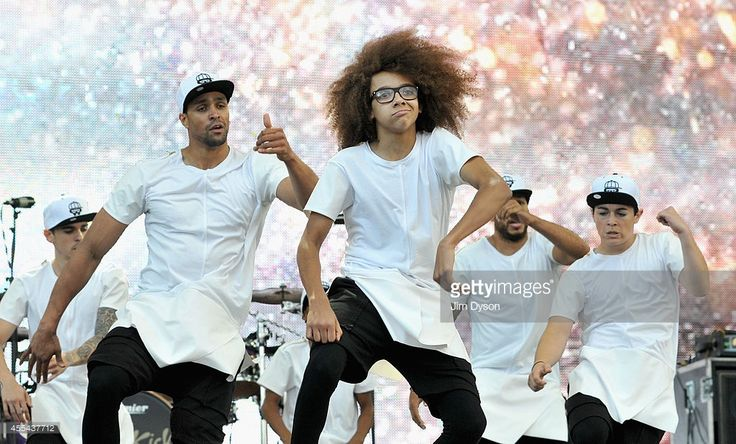 Ashley Banjo, Perri Kiely and Diversity perform onstage during the Invictus Games Closing Concert at the Queen Elizabeth Olympic Park on September 14, 2014 in London, England.