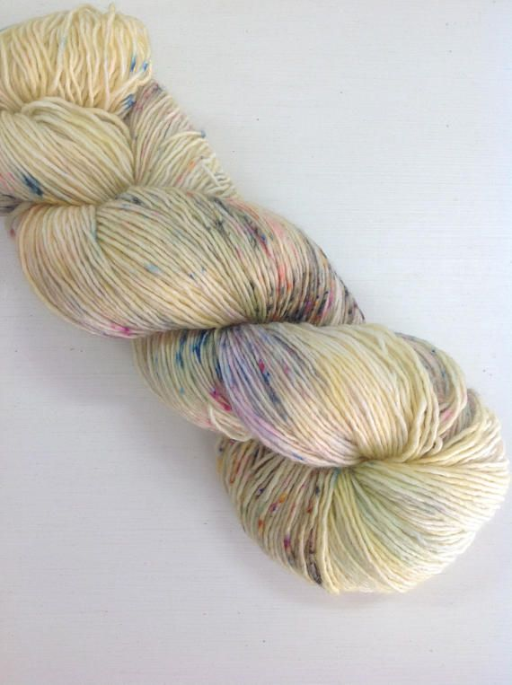 hand speckled yarn
