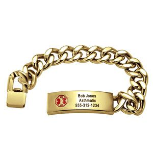 Men's ID Medical Alert Bracelet - Personalized. Sale price: $95.00