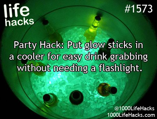 Glow sticks are a hack go to