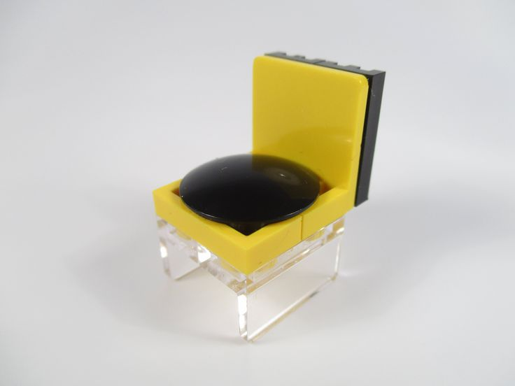 LEGO furniture - yellow design chair