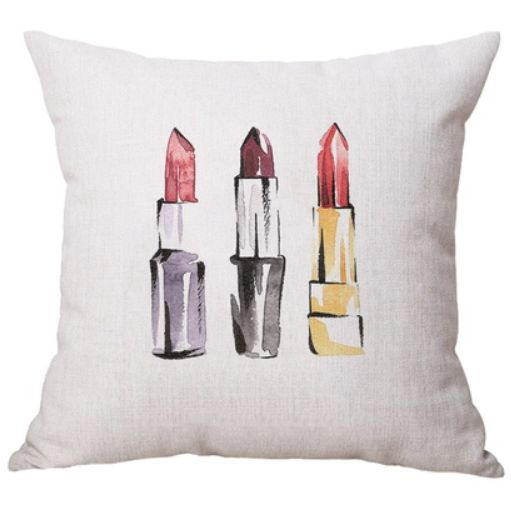 Red Lipsticks Print Cushion