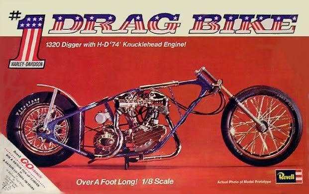 vintage drag bikes photo: 1971 Harley Drag Bike HarleyDragCoverArt.jpg