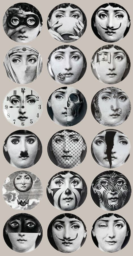 papier peint tema e variazione fornasetti cole and son. Black Bedroom Furniture Sets. Home Design Ideas