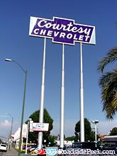 On the corner of Stevens Creek and Winchester Blvd (San Jose), stood a landmark with a giant sign.  The Courtesy Chevrolet sign, in all of its neon glory.  You could see it for miles down Stevens Creek at night.  It is now the Santana Row sign.  The city of San Jose has a sign ordinance, so these types of signs cannot be made anymore, so Santana Row was allowed to keep it and use it. #SiliconValley #Chevrolet