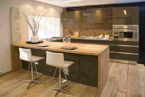 cozinhas-de-luxo-banquetas: Decoration, Idea Home, Casa Clean, Idea For, Decoration Apartment, Modern Kitchen, Building My, Kitchen, My House