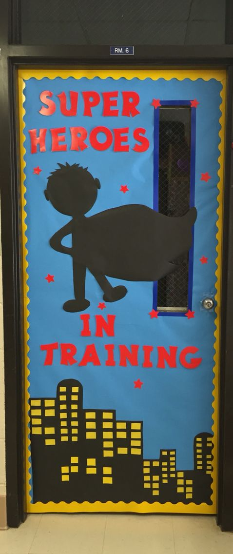 Super Hero Classroom Door